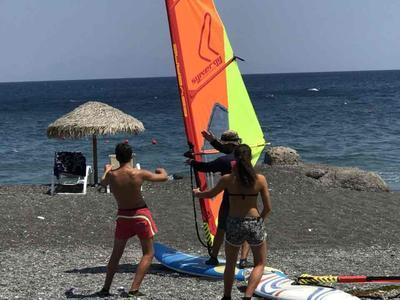 Windsurfing for beginners in Santorini