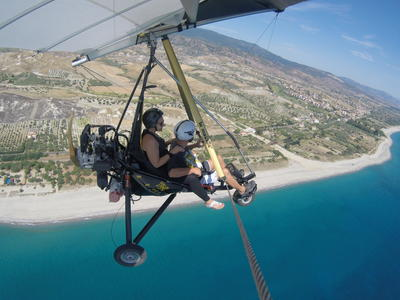 Microlight Flight over the Ionian Coast in Calabria
