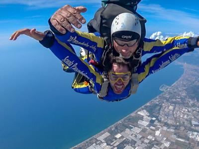 Tandem Skydive from 4500m over the Amalfi Coast near Naples