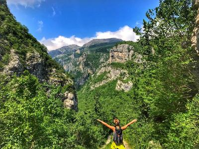 Hiking on Prenj Bijela Mountain in Dinaric Alps near Mostar