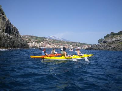 Guided Kayak Tour along the Coast of Catania