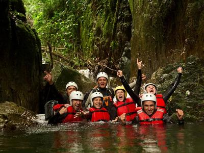 Canyoning in the Alcantara Gorges, Sicily