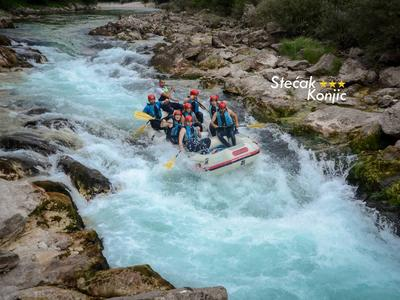 Rafting on the Neretva River near Konjic, Bosnia and Herzegovina