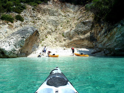 Sea Kayaking Excursion to Papanikolis Cave