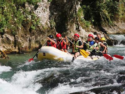Rafting on the Neretva river in Bosnia and Herzegovina