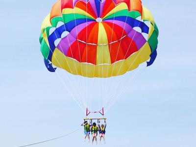 Parasailing flight in Ammoudara, Heraklion