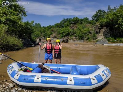 Rafting on Aliakmonas River near Meteora