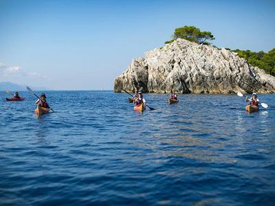 Sea kayaking around the Elaphite Islands, near Dubrovnik