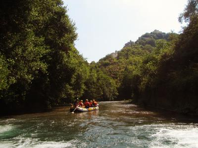 Rafting on the Lao River in Pollino National Park