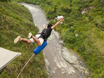 Bungee jumping in the Corinth channel, Greece