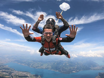 Tandem skydive over Interlaken, Switzerland