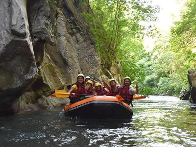 Rafting on the Lao River in Papasidero (Pollino National Park)