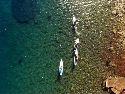SUP and snorkelling tour in Santorini