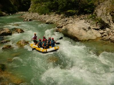 Rafting in Voidomatis River