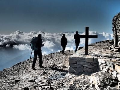 Hiking up Mount Ida, Crete