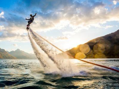 Flyboard session in Santorini