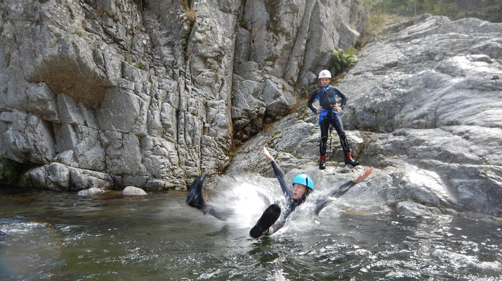 Canyoning-Ardèche-Canyoning dans les Gorges du Haut Chassezac, Ardèche-6