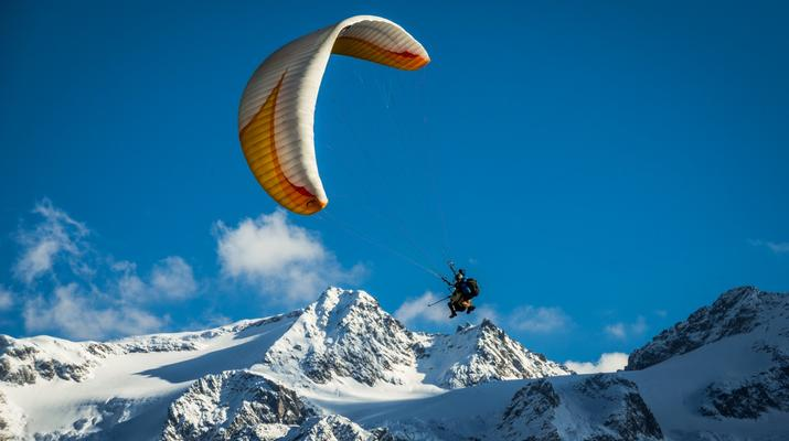Paragliding-Engelberg-Tandem paragliding flight over Engelberg, Switzerland-1