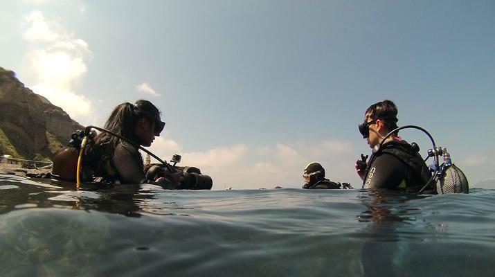Plongée sous-marine-Santorin-Baptême de Plongée à Santorin-5