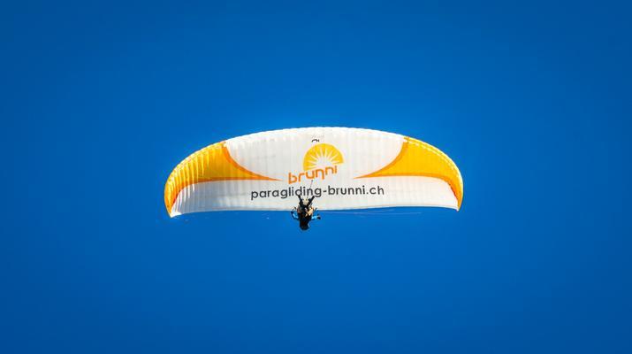 Paragliding-Engelberg-Tandem paragliding flight over Engelberg, Switzerland-4