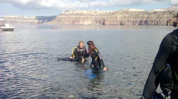 Plongée sous-marine-Santorin-Baptême de Plongée à Santorin-6